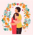 happy romantic couple people in love valentine vector image vector image