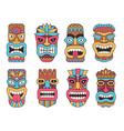 hawaiian mask of tiki god wooden african vector image vector image