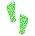 human footprints composition of circles vector image vector image