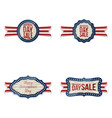 independence day realistic badges set vector image vector image
