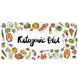 ketogenic diet sketch banner vector image vector image