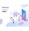 landing page template biometrics technology vector image