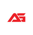 letters ag simple linked logo