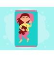 Little girl sleeping vector image vector image