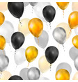 luxury balloons in gold silver and black colours vector image vector image