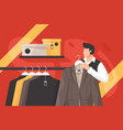 mens clothing store vector image vector image