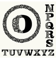 monogram in baroque and set 2 capital letters vector image vector image