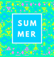 neon summer background vector image vector image
