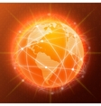 Network globe concept orange vector image vector image