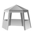 presentation tent mockup realistic style vector image