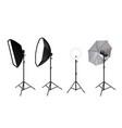 realistic spotlights photo video accessories vector image