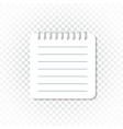 realistic template notepad with spiral blank vector image vector image