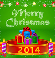 ribbon 2014 and Merry Christmas gifts vector image vector image