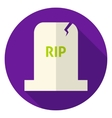 RIP Tombstone Circle Icon vector image