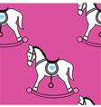 Rocking horse wallpaper vector image vector image