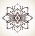 round flower pattern circular ornament design vector image