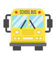 school bus flat icon transport and vehicle vector image