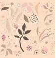 seamless delicate floral pattern on dotted vector image vector image