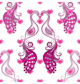 Seamless valentine vintage pattern vector image