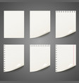 set different notepad sheet vector image