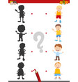 shadow activity game with boys vector image vector image