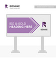sign board with company r logo design with purple vector image