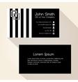 simple zebra stripes black business card design vector image vector image