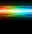 smooth colorful technology light lines vector image vector image