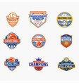 sports logo badges 4 vector image vector image