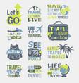 travel motivation badge logo vector image vector image