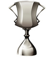 Trophy made of silver vector image vector image