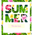 Tropical print slogan vector image