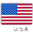 USA flag doodle vector image