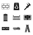 wall mounting icons set simple style vector image vector image