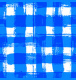 white blue gingham pattern grunge brush strokes vector image vector image