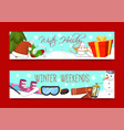 winter holidays and weekends set of banners vector image vector image