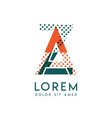 za modern logo design with orange and green color vector image vector image