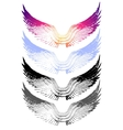 vintage wings on white background EPS 10 vector image