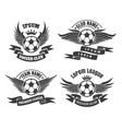 soccer club emblem set vector image