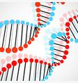 abstract spiral of dna colorful molecular vector image vector image