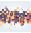 Abstract texture with colorful squares vector image