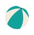 beach balloon air isolated icon vector image vector image