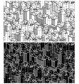 big city isometric vector image