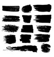 black paint brush strokes dirty inked grunge vector image vector image