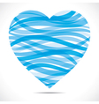 blue strip heart shape vector image