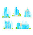 business center isolated building icons vector image