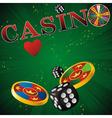casino green strip vector image vector image