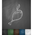 chicken drumstick icon vector image