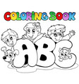 coloring book school abc letters vector image vector image