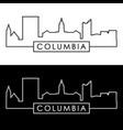 columbia mo skyline linear style editable file vector image vector image